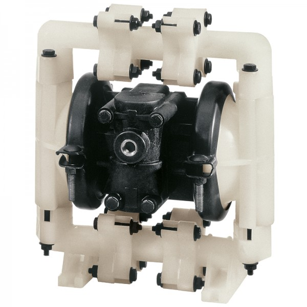 """Double diaphragm pump 1/2"""" made of PP (band clamp version)"""