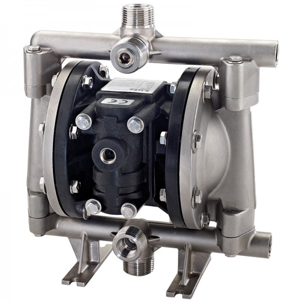 "Double diaphragm pump 1/2"" made of stainless steel (PTFE version) (bolted version)"
