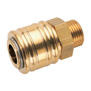 Coupling (female part) for compressed air supply