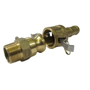 Quick-action hose coupling