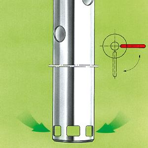 Funktion Fasspumpe Mischen & Pumpen, Hebel geschlossen