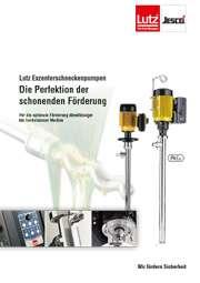 Prospekt Lutz Verdrängerpumpen, Exzenterschneckenpumpen für Chemie, Säure, Öl, hochviskose Medien