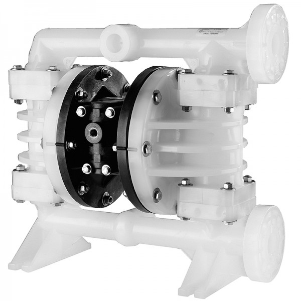 "Double diaphragm pump 1"" made of PVDF (PTFE version) (bolted version)"
