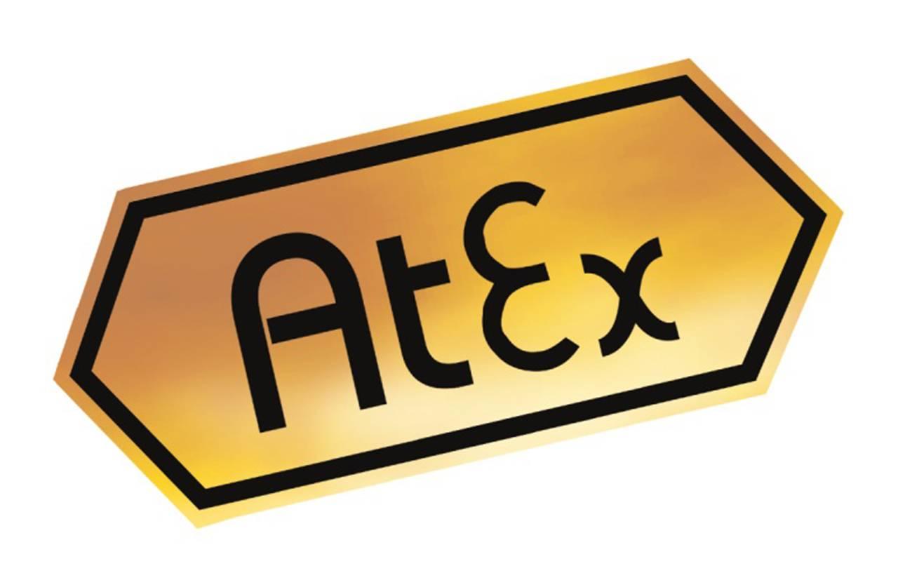 Sechseckiges Atex-Logo