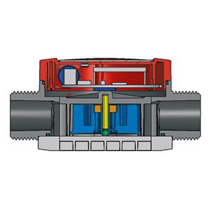Durchflussmesser | Querschnitt Turbinenradzähler