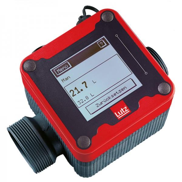 LUTZ Durchflussmesser | Taumelscheibenzähler für Lösemittel, Benzin, Öl