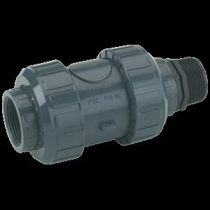 Rückschlagventil PVC | Verhindert ein Zurückströmen der Flüssigkeit bei Stillstand der Pumpe