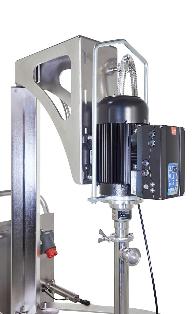 With Lutz beyond the limits of flowability: The new drum emptying system with follower plate