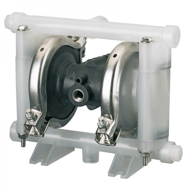 "Double diaphragm pump 3/8"" made of PVDF (PTFE version)"