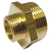 Reducing nipple made of brass