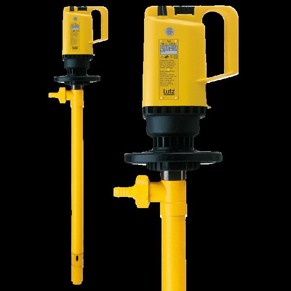 Lutz Elektrische Fasspumpe PP mit Universalmotor MI-4 |Pumpe für Säuren, Lösungen, Galvanik