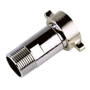 Drum pump connection made of stainless steel for eccentric screw pumps