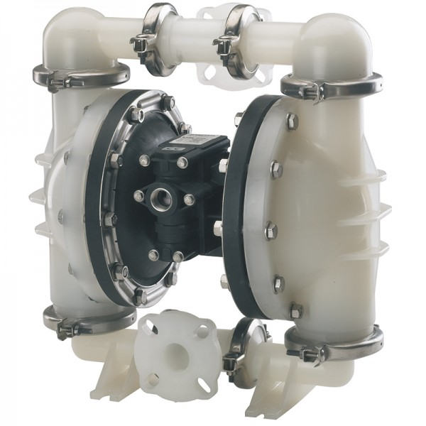 "Double diaphragm pump 1 1/2"" made of PVDF (PTFE version) (bolted version)"