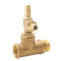 Bypass valve made of brass for eccentric screw pump B70V Brass