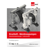 leaflet compressed air Diaphragm pumps with Ex-protection, FDA-conform